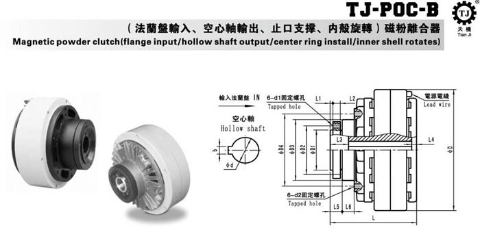 空心轴磁粉离合器
